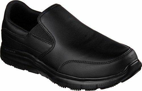77071 Skechers Mens Work Relaxed Fit Bronwood Black Loafer Slip Resistant