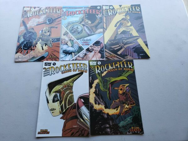 Rocketeer Cargo of Doom 1-4 + #1 B Cover IDW Complet Series