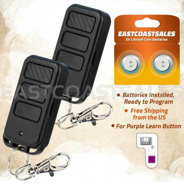 2 Car Garage Door Remote Opener For Liftmaster 370LM 371LM 373LM 315Mhz Keychain $14.95
