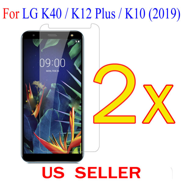 2x Clear LCD Screen Protector Guard Cover Film For LG K40  K12 Plus  K10(2019)