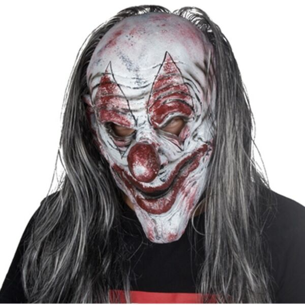 Halloween Clown Mask Killer Clown Scary Evil Latex Silver KillJoy Clown