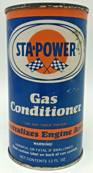 Vintage Sta Power Gas Conditioner Metal Oil Can 12 oz Unopened $22.50
