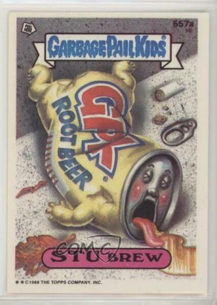 1988 Topps Garbage Pail Kids Series 14 #557a Stu Brew Non-Sports Card 0d8