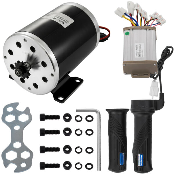 1000W 48V Electric Motor Kit w Base Speed Control & Thumb Throttle for Scooter