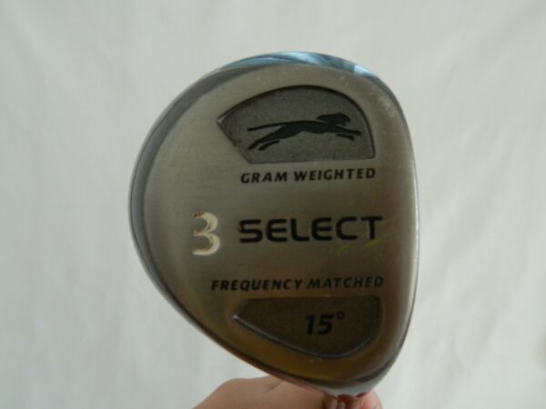 Slazenger Select 3 Wood Driver 15* RH Golf Club Gram Weighted Frequency Matched