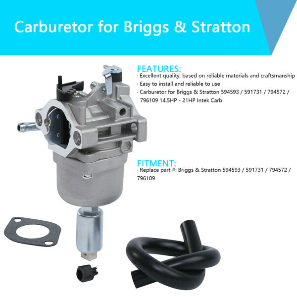Carburetor Fit For Briggs amp; Stratton 594593 591731 794572 796109 14.5 21hp Intek $12.75