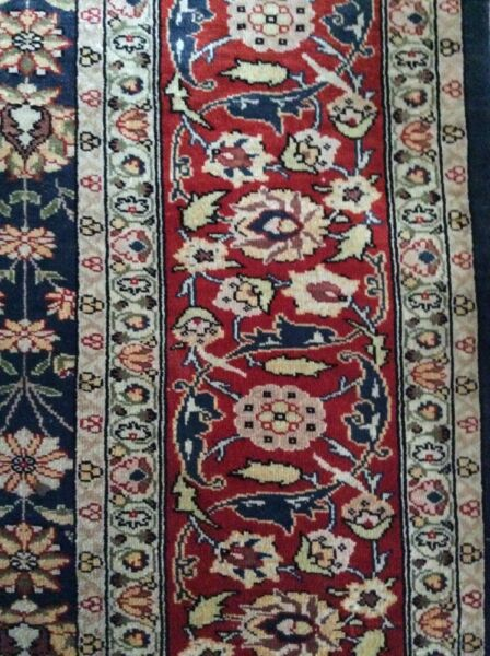 HEREKE Turkish Pure Silk Hand Made Kpsi 1400 Rug Carpet ESEN HALI 7' X 9'