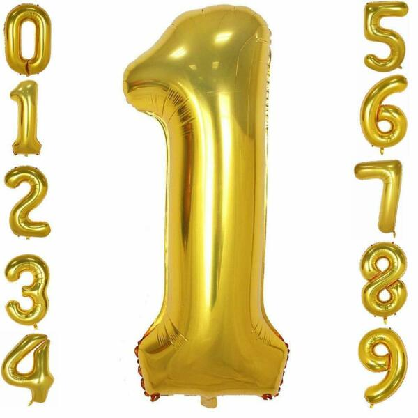 40 Inch Gold Foil Balloons Number 0-9 for Birthday Anniversary Party. Glowyms  $4.99