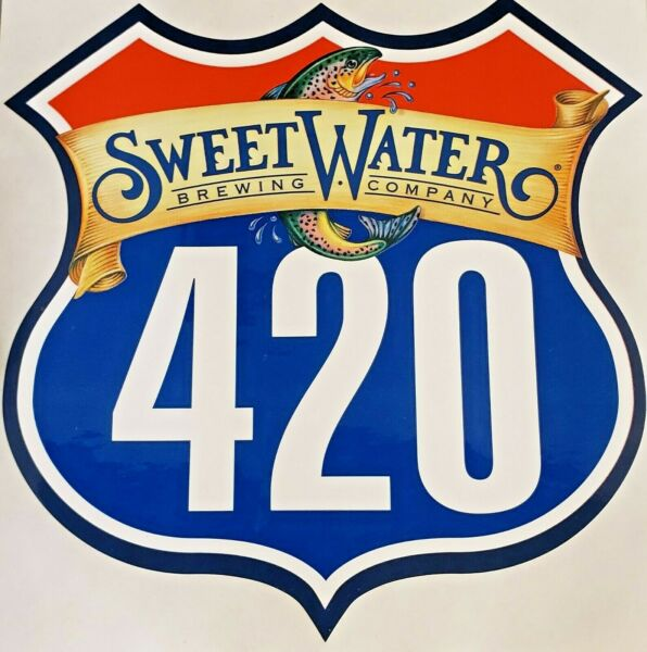 Sweetwater Brewing Company 420 Highway Sign w trout Sticker Craft Beer Brewery!