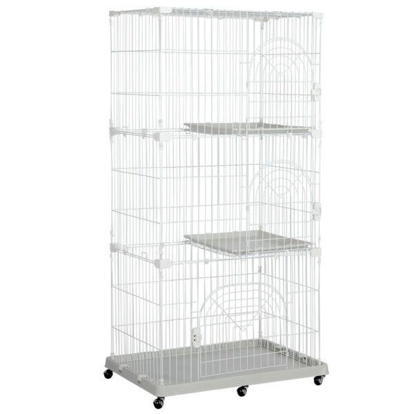 Multi-Tier Large Wire Pet Cage Playpen for Cats