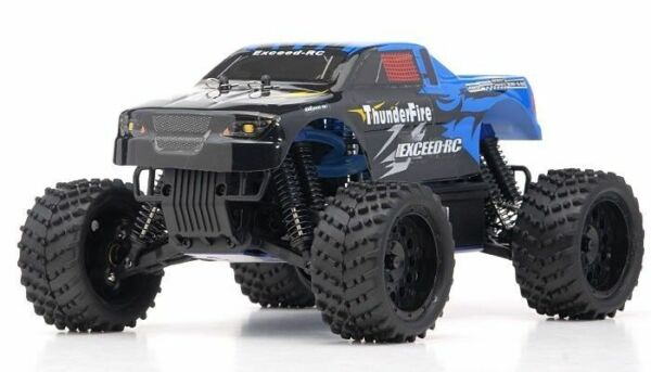 1 16 2.4Ghz Exceed RC ThunderFire Nitro Gas Powered RTR Off Road Truck Sava Blue