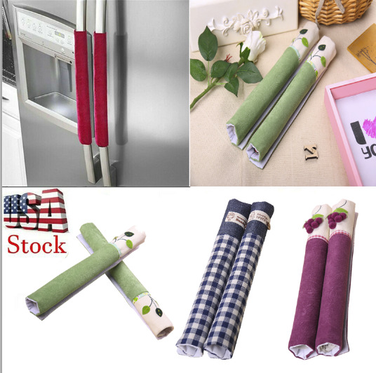 1 Pair Refrigerator Handle Cover Kitchen Appliance Refrigerator Cover US Stock
