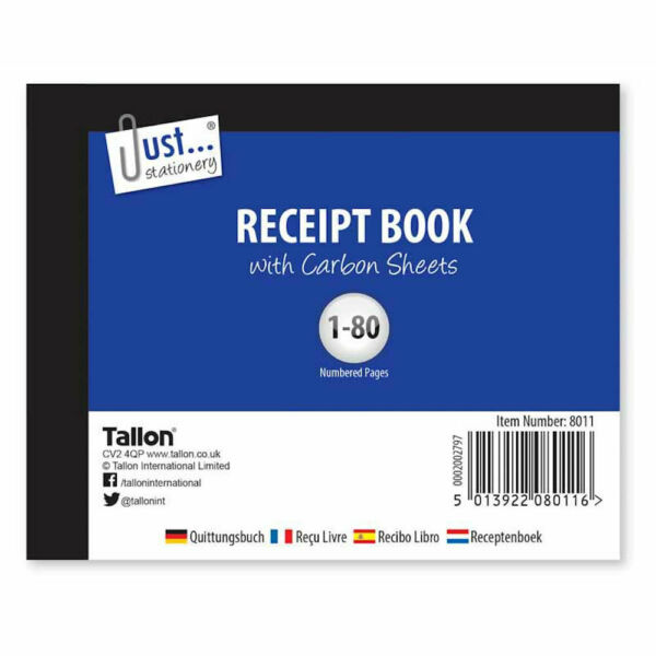 Receipt Book Half size Carbon Sheets Small Book Stationery Invoice Shop Office GBP 1.99