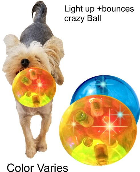 """4""""Crazy Durable Dog Ball Toy-Tired Of Puppies Toys That Don't Last?4x Engaging"""