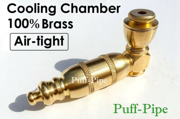 Metal Tobacco Smoking Pipe Solid Brass Chamber Bowl 34