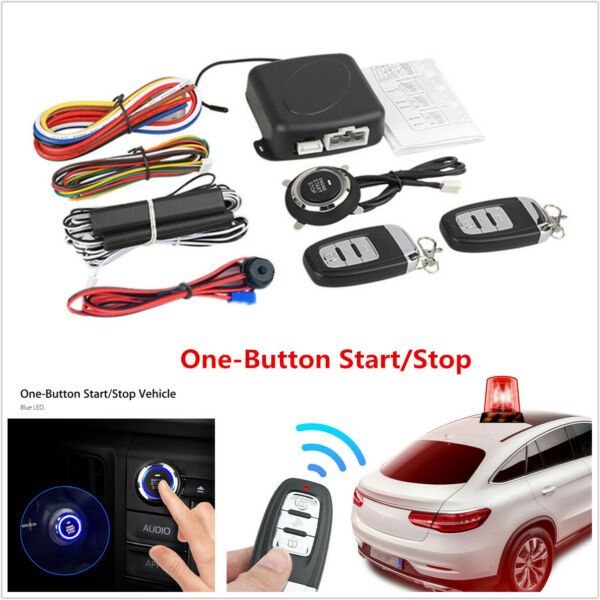 USA- Car Alarm System Security Keyless Entry Push Button Remote Engine Start Kit