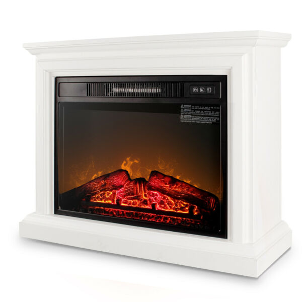 Electric Quartz Infrared Fireplace Heater Mantel w Remote Control 1400 Watt