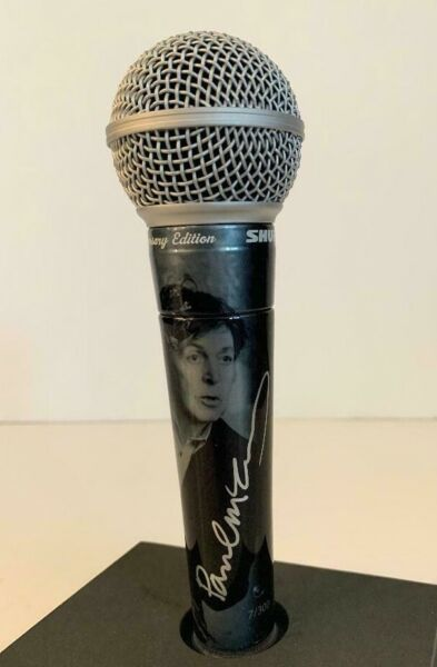 Shure PAUL MCCARTNEY THE BEATLES #7 of 10 Signed Limited Edition SM58 Microphone