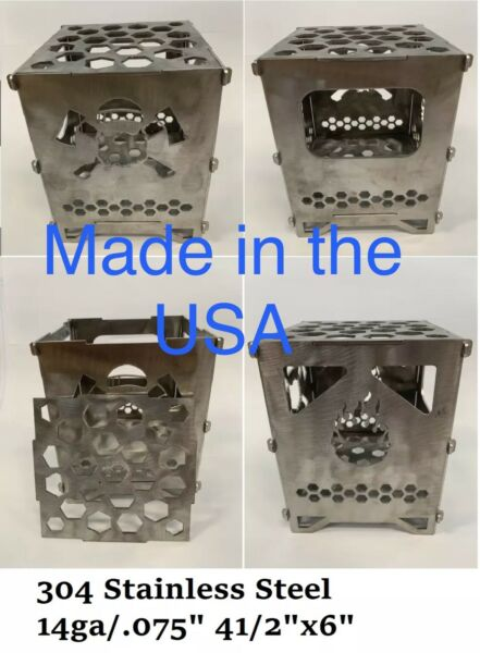 Stainless Steel Portable Camping Twig Stove (FIRE BOX)