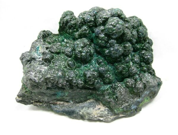 Pseudomalachite with Heterogenite on Botryoidal Gem Silica Chrysocolla