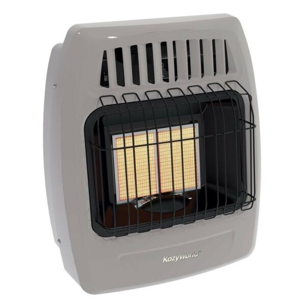 Kozy World Dual Fuel Vent Free Infrared Wall Heater 12000 BTU LP or Natural Gas