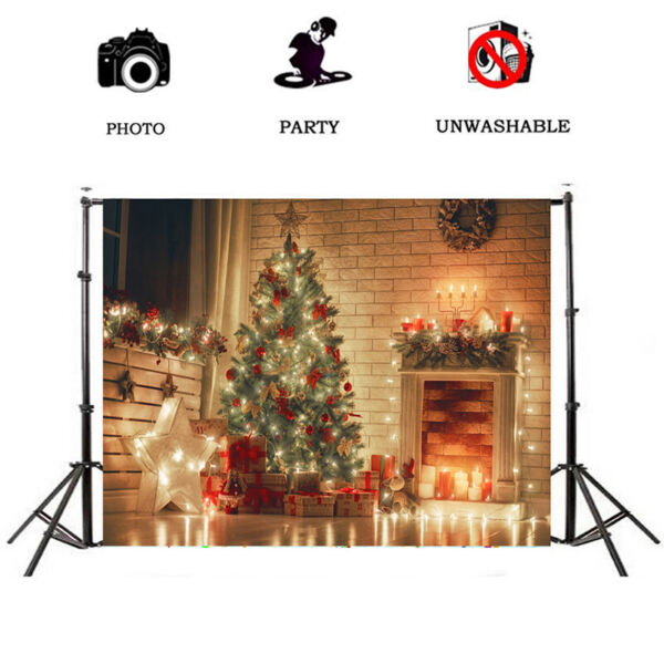 Christmas Tree Gifts Backdrops Candle Stars Light Background 3x55x76x910x10FT