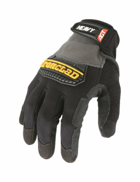 Ironclad  BlackGray  Men's  Medium  Synthetic Leather  Heavy Duty  Gloves