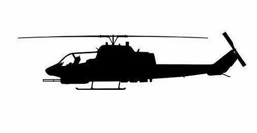 Cobra Helicopter Vinyl Decal Sticker  BUY 2 GET 1 FREE Automatically