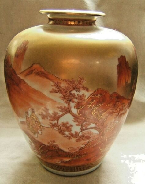 19TH CENTURY JAPANESE KUTANI VASE GREAT LANDSCAPE SIGNED