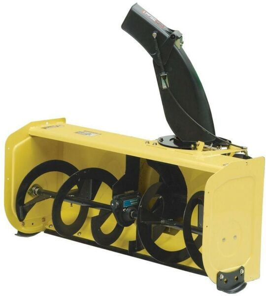 44 in. Snow Blower Attachment for 100 Series Tractors Single Stage Rotor Speed