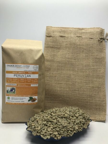 1lb30lb - Peruvian – Specialty Grade – Premium Unroasted Green Coffee Beans