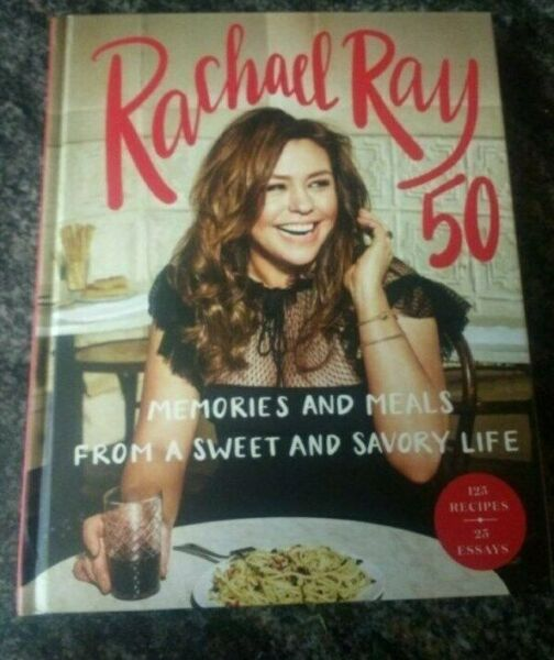 SIGNED Rachel Ray 50: Memories and Meals HARDCOVER BRAND NEW autographed