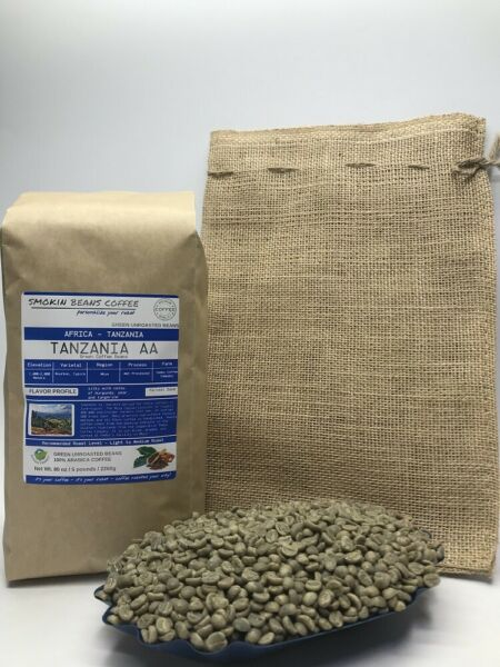 1lb30lb - Tanzania AA – Specialty Grade – Premium Unroasted Green Coffee Beans