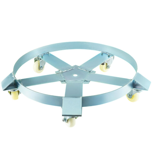 Drum Dolly 55Gal Heavy Duty Steel Frame Easy Roll with 5 Swivel Casters 1250 Lbs $59.32
