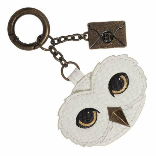 Harry Potter Hedwig Keychain w Hogwarts Letter Charm