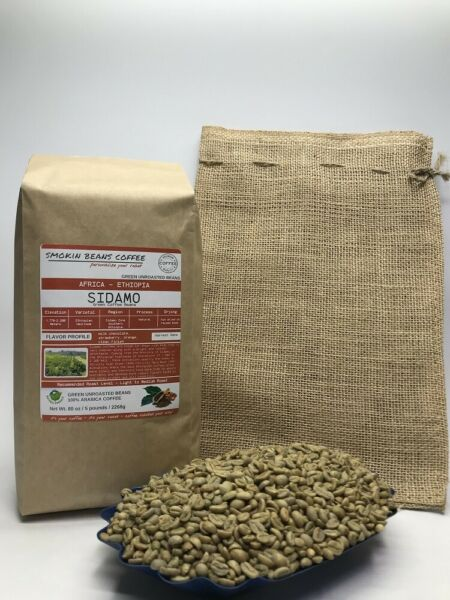 1lb30lb - Ethiopian Sidamo Natural – Premium Unroasted Green Coffee Beans