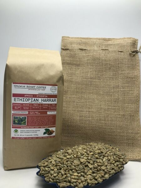 1lb30lb - Ethiopian Harrar Natural – Premium Unroasted Green Coffee Beans