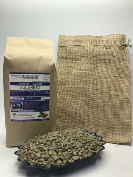 1lb30lb - Sulawesi – Specialty Grade - Premium Unroasted Green Coffee Beans