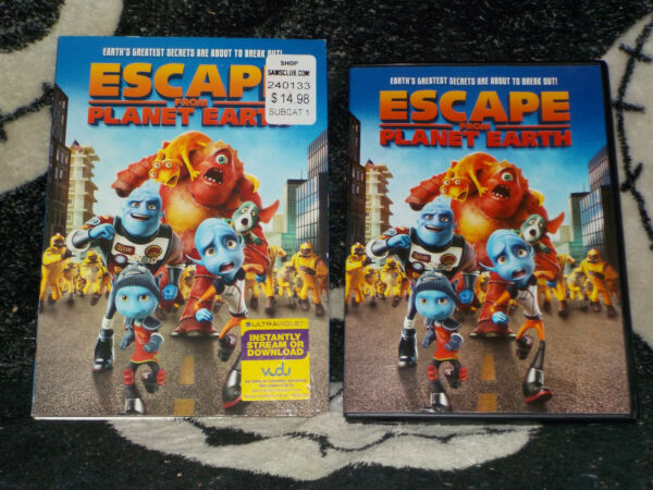 Escape From Planet Earth DVD +Slipcover +Insert Free Shipping $5.99