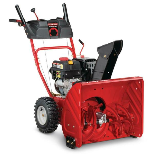 Troy-Bilt Two-Stage Gas Snow Blower Electric Start Self Propelled 24 in. 208 cc
