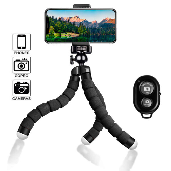 Flexible Small Octopus Mount Mini Tripod Bluetooth Remote Stand Holder iPhone $8.25