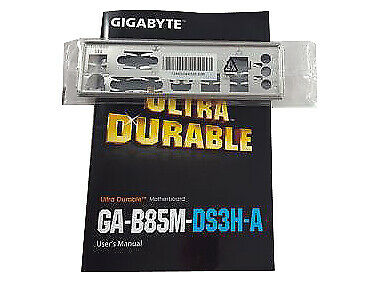 Gigabyte GA-B85M-DS3H-A (rev. 1.0) IO Shield  Manual