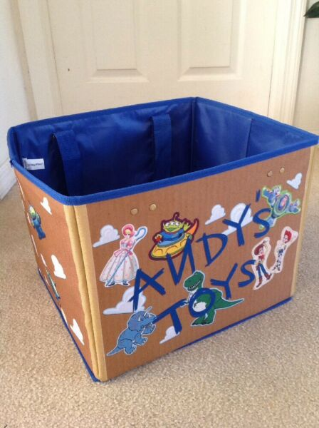 RARE VIP DISNEY TOY STORY TOY BOX BIN RARE LE Foldable Crate Collapsible Storage