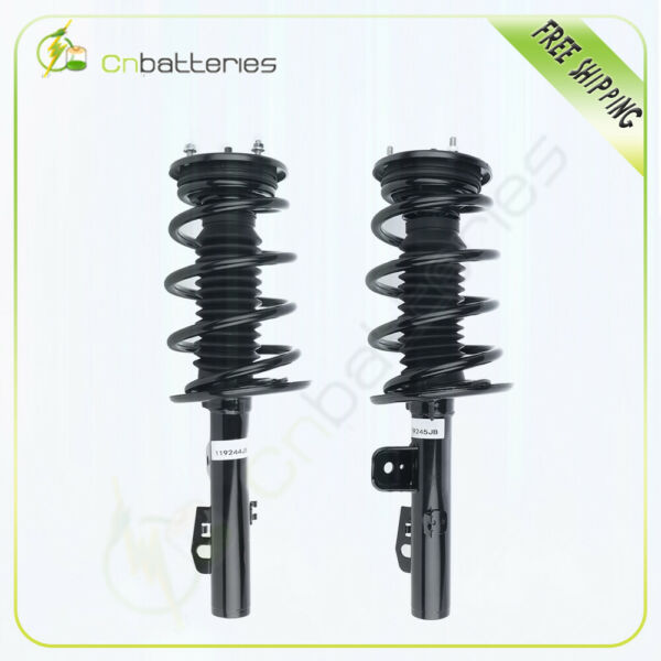 2 Pair For Ford Taurus 2010 11 2012 Front L+R Quick Complete Struts w Springs