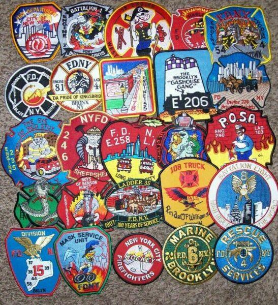 *Clearance*  N.Y.C. - 25 Fire Patch Set # 30  (No Duplicates In Set)