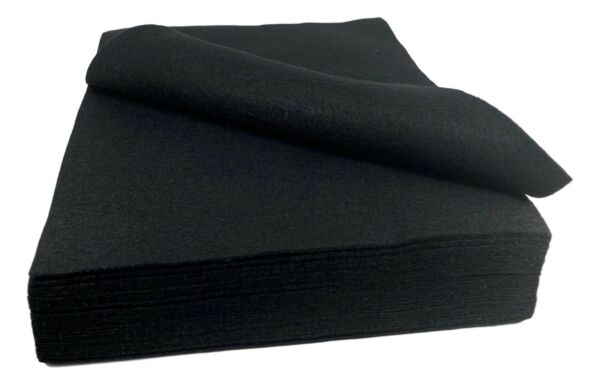 Black Felt Fabric 30 Sheets Pack 9 x 11.8 In 1.5 mm Thick Craft Activities $16.95