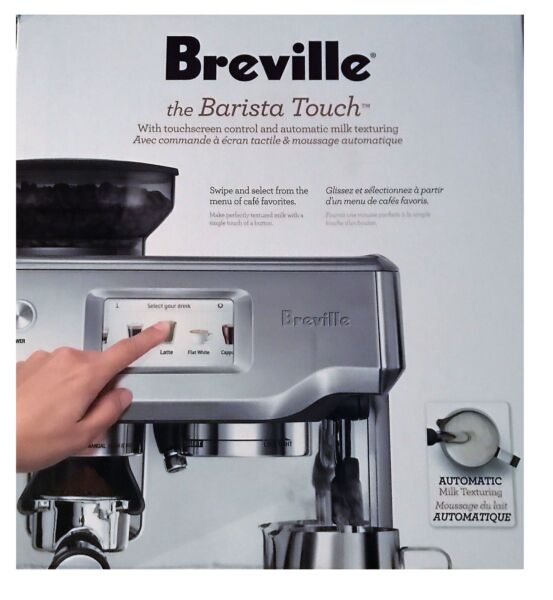 Breville The Barista Touch BES880BSS Automatic Espresso Maker Machine $979.99