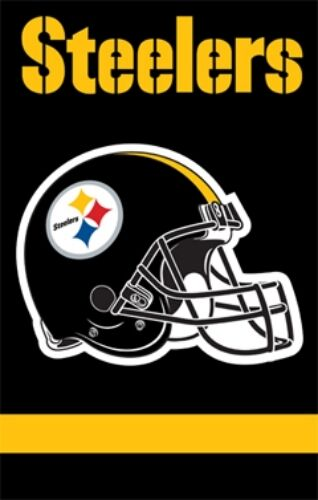 Pittsburgh Steelers Applique Embroidered Premium Banner Flag -2 Sided 28