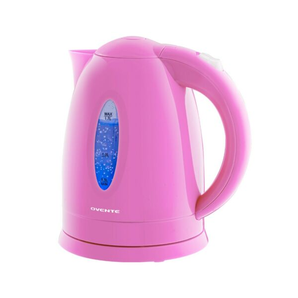 Ovente Electric Water Kettle 1.7L with LED Indicator Light BPA Free Pink KP72P $13.61