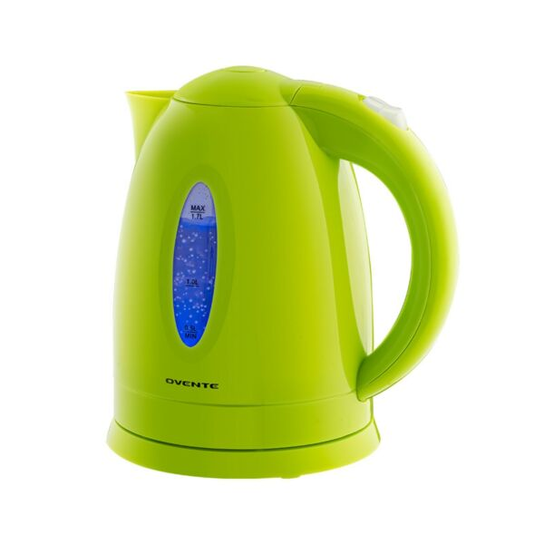 Ovente Electric Water Kettle 1.7L LED Indicator 1100W BPA Free Green KP72G $20.99